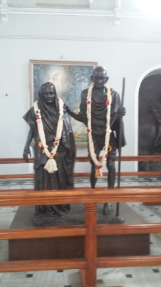 Kasturba and Gandhiji