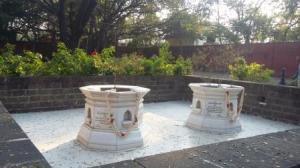 Kasturba and Mahadev Desai Samadhis