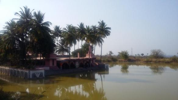 Ramdara temple with surrounding water