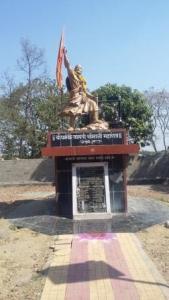 Sambhaji Maharaj statue Tulapur