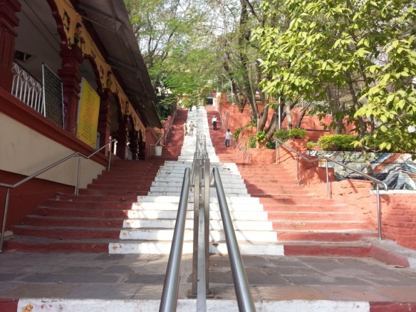 160 steps to the temple