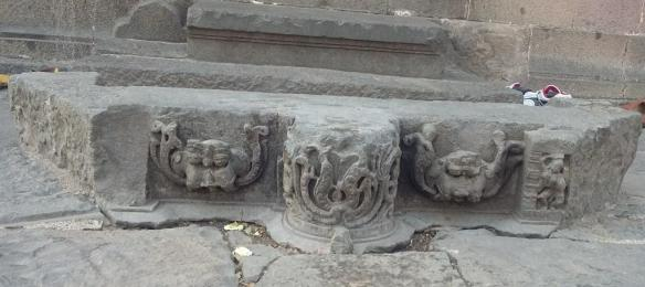 carvings at the entrance steps