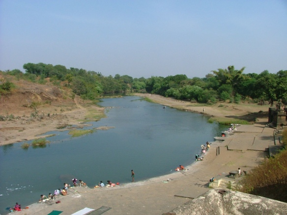 Sapcious banks of Krishna River