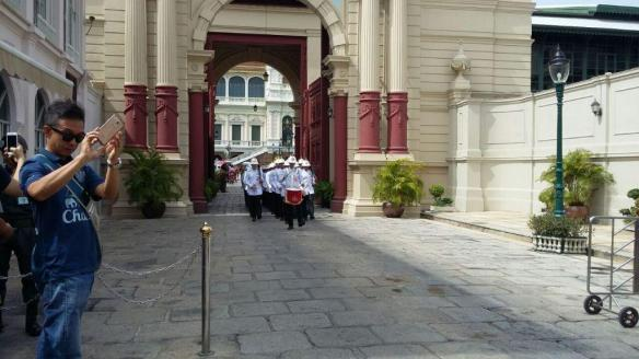 Marching at Royal Palace