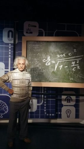 Wax statue of Einstein at Madame Tussads museum