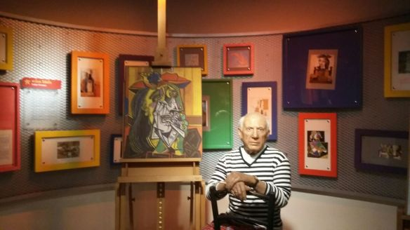 Wax statue of Pablo Picasso at Madame Tussads Wax museum