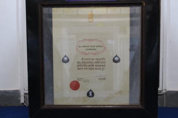 Bharatratna award of Dr.Ambedkar.JPG